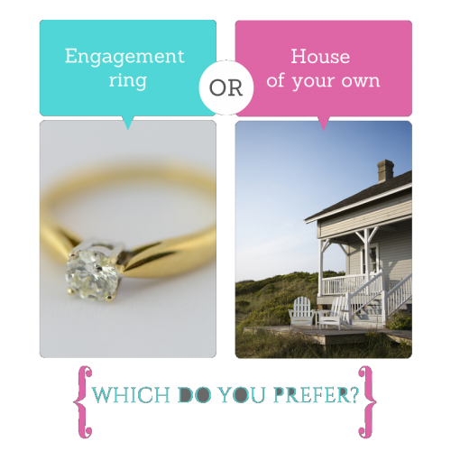 Your Pick: Big Diamond Rings or a House of Your Own?