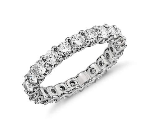 An Eternity diamond ring is a very beautiful addition for your right hand