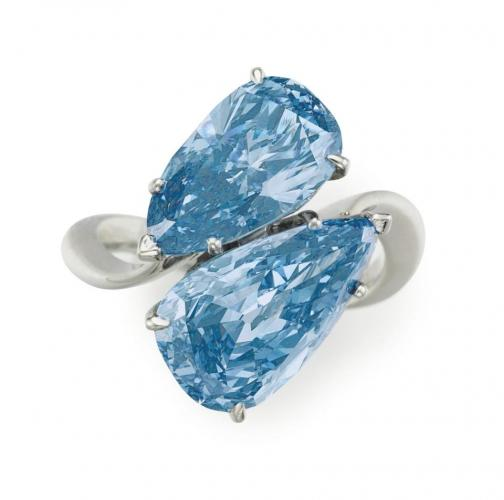 Graff Blue Diamond Ring To Lead Christie's Auction