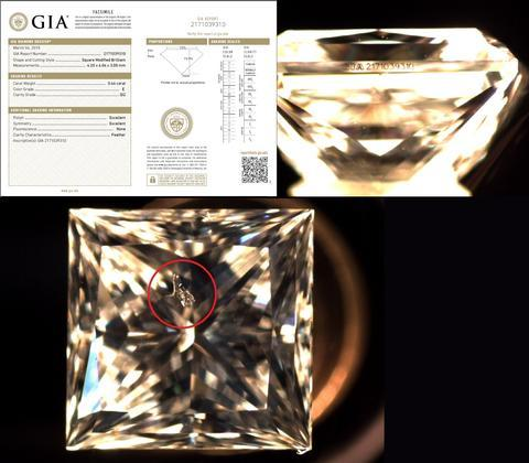 Two diamonds with clearly different clarity's, have the same GIA clarity grade