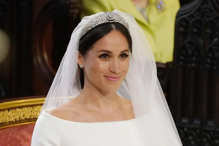 Meghan Markle Accessorizes Her Wedding Dress with Cartier Diamonds