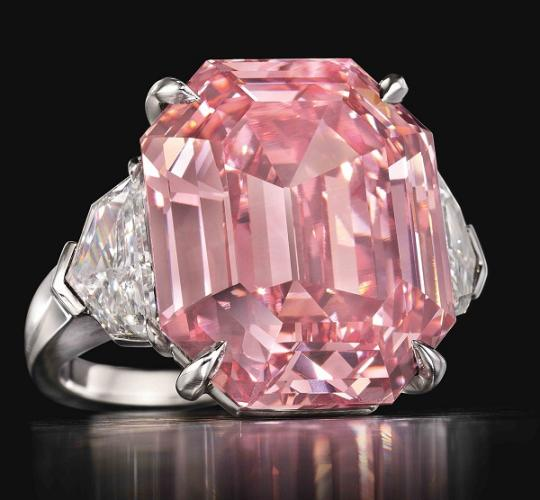 19 carat Pink Legacy sets a world record at a Christie's auction