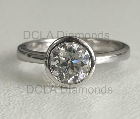White gold bezel dianomd solitaire