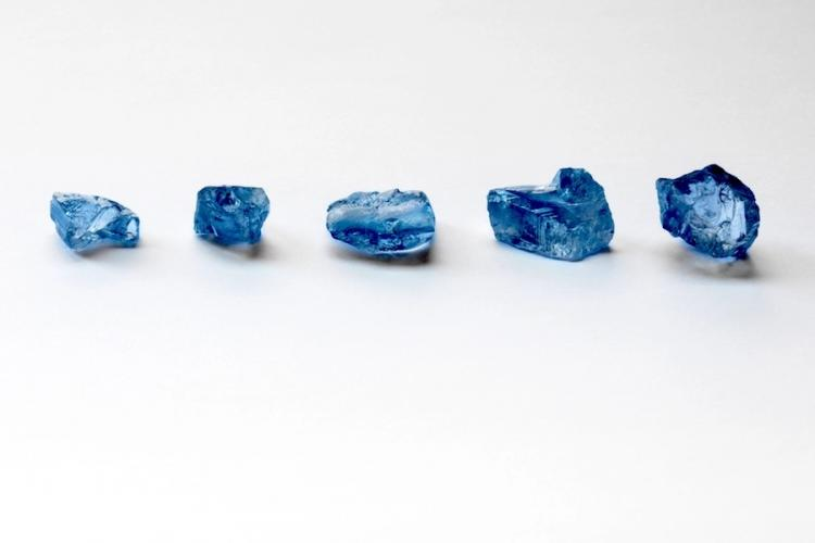 Petra Diamonds recovers five rare large high-quality blue diamonds at Cullinan Mine