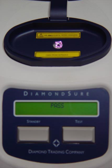 DiamondSure DTC Testing For Natural Diamond